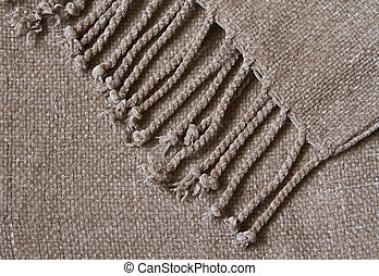 Cozy fringe blanket background