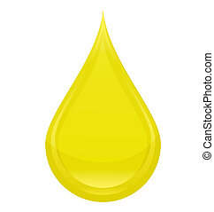 power drop oil sign yellow color isolated