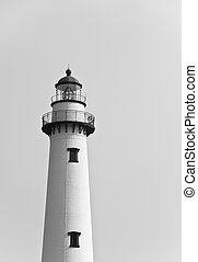Brick Lighthouse in Black and White
