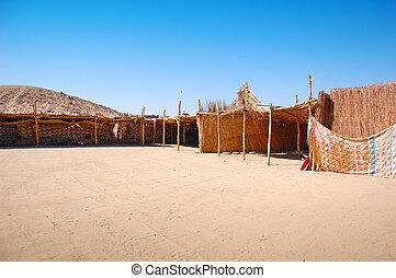 Bedouin village in the desert