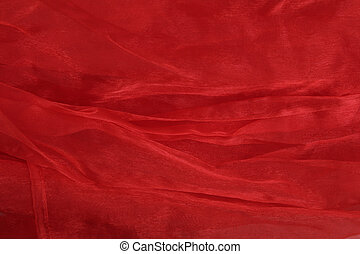 texture organza - red organza fabric
