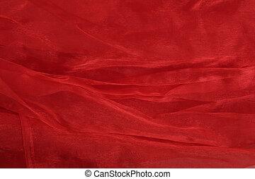 texture organza - red organza fabric