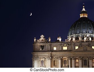 St Peter basilica - St Peters basilica in Vatican City, Rome...