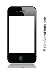 smartphone - illustration of iphone 4, vector format
