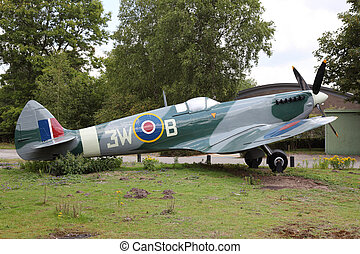 Supermarine Spitfire - Airplane Supermarine Spitfire in a...