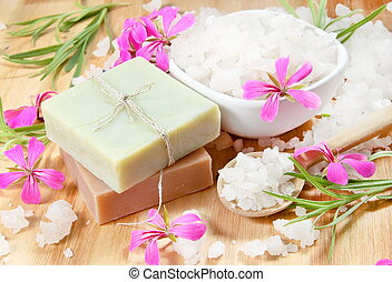 Spa Herbal Soap and Scented Sea Salt