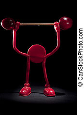 Body Building with Cherries - Red Puppet Body Building with...