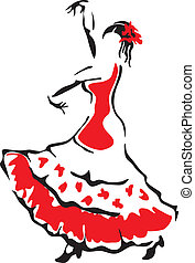 Flamenco dancer Vector illustration
