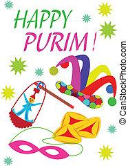 Purim - Cheerful Jewish holiday of Purim
