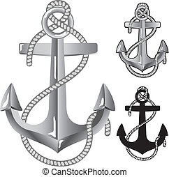 Silver anchor Symbol of sailors in vector format
