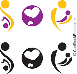 Pregnancy and motherhood symbol. Vectir illustration.