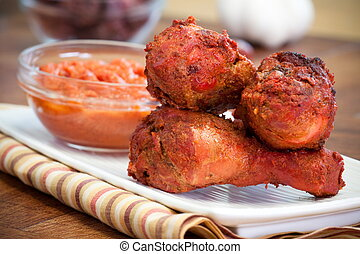 Chicken Tikka Masala Drumsticks - Chicken drumsticks made...