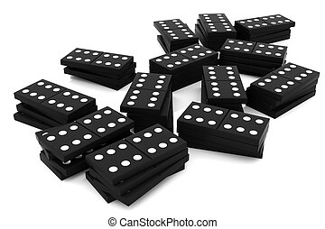 Domino - 3D rendered domino isolated on white background