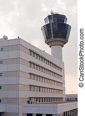 Air traffic control tower at Athens airport