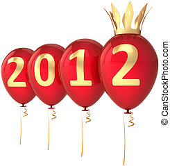 New Year 2012 party balloons