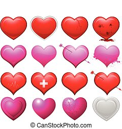 Hearts collection - vector heart collection