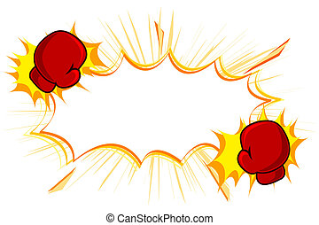 Copy Space with kick Boxing Gloves - illustration of copy...