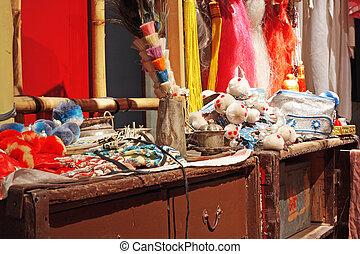 chinois, opéra, assaisonnement, salle