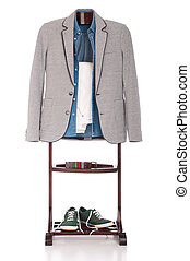 Smart casual clothing - smart casual man dressing for a...