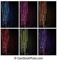 Sparkling Background - illustration of set of colorful...