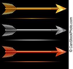 Three Arrows - Gold Silver & Bronze