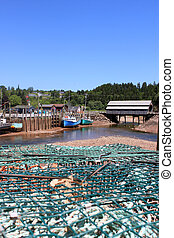 St Martins, New Brunswick wharf - Fishing wharf in St...