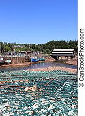St. Martins, New Brunswick wharf - Fishing wharf in St....