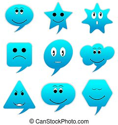 Smiley Speech Bubble - illustration of speech bubble with...