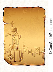 Statue of Liberty on Letter