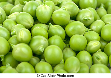 Peas pods - Fresh green peas in a considerable quantity