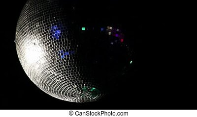 Disco ball spinning with reflected light
