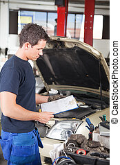 Mechanic with Work Order