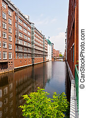 Speicherstadt in Hamburg, Germany is the world's largest...