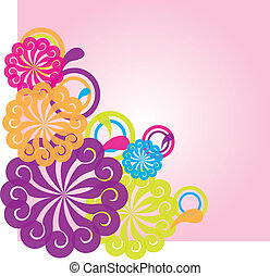 flowers abstract  illustration