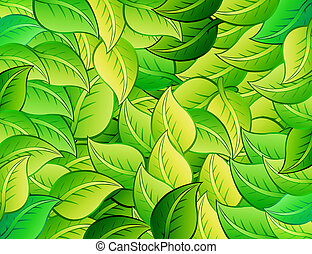 cartoons leafs - dark green and green cartoons leafs...