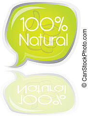 100 percent natural bubble