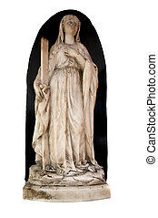 St Marys Cathedral - marble status of mary at St MArys...