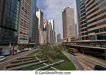 Modern city - The small area and skyscrapers in Hong Kong...