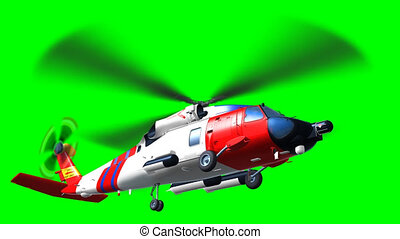 The saving helicopter side - Render of side helicopter coast...