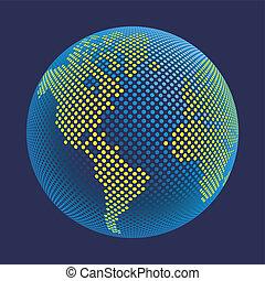 Digital world vector.