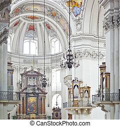Salzburg dom - An inside image of the Dom in Salzburg