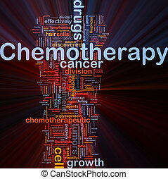 Medical chemotherapy background concept glowing