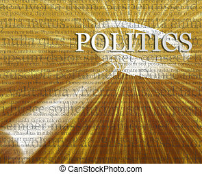 Politics search illustration - Focusing on politics search...