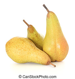 Pears - Ripe pears on white background