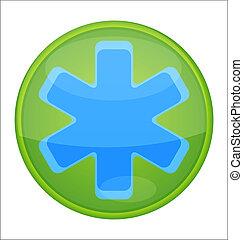 medic sign blue color