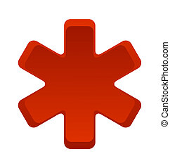 hospital medic symbol red color