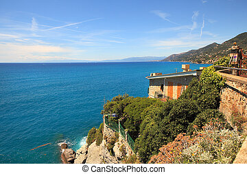 Ligurian sea. - View on Ligurian sea from Recco - popular...