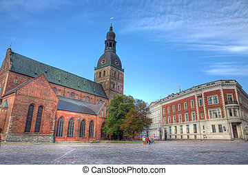 The Dom Cathedral in Riga, Latvia - The Dom Cathedral -...