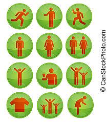 shiny social symbols set