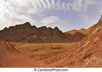 Black canyon in mountains about Eilat in Israel